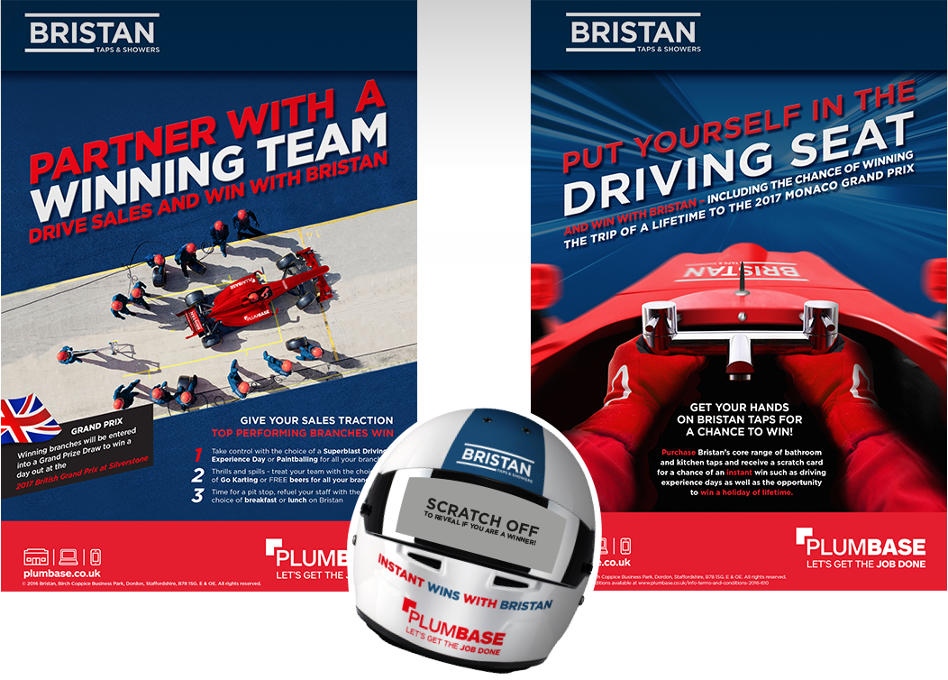Bristan promotion brochures and scratch card